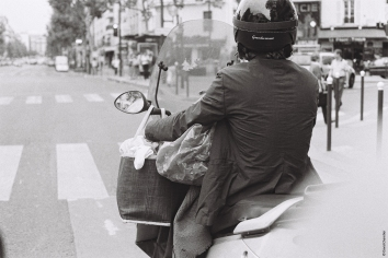 """On two wheels - Part II"" Paris, France Minolta SRT 100b Rokkor 50mm. Illford 400 ISO"