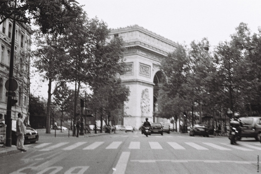 """On two wheels - Part IV"" Paris, France Minolta SRT 100b Rokkor 50mm. Illford 400 ISO"